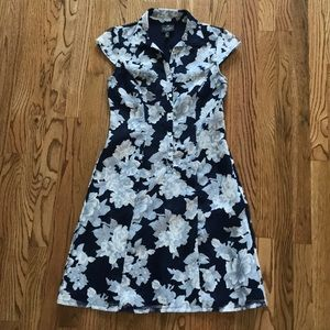 NWT Adrianna Pappell Navy Floral Midi Dress 2